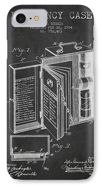 Emergency Case Patent From 1904 - Charcoal IPhone Case by Aged Pixel