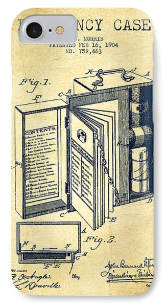 Emergency Case Patent From 1904 - Vintage IPhone Case by Aged Pixel
