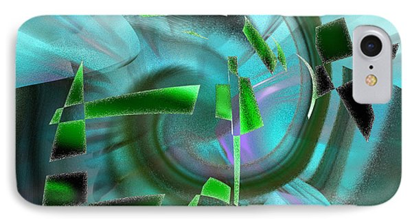 IPhone Case featuring the digital art Emerging by rd Erickson