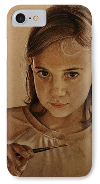 IPhone Case featuring the painting Emerging Young Artist by Glenn Beasley
