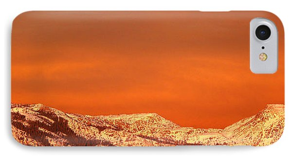 Mountain Sunset iPhone 7 Case - Emigrant Gap by Bill Gallagher