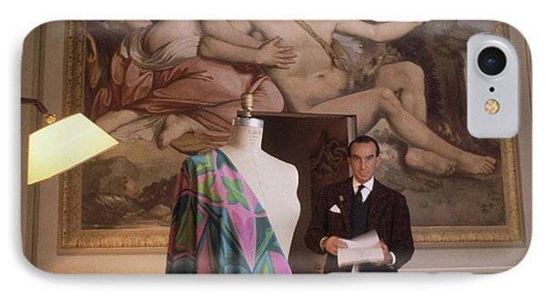Emilio Pucci By A Fresco IPhone Case by Horst P. Horst