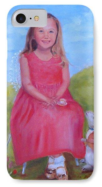 Emma In Wonderland IPhone Case by Carol Berning