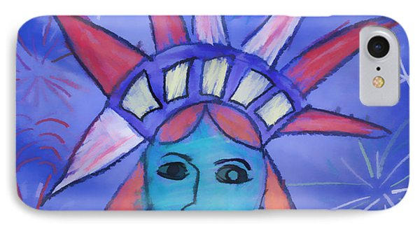 Emma's Lady Liberty IPhone Case by Alice Gipson