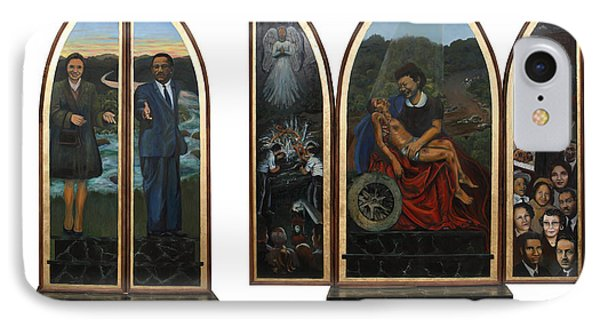 Emmett Till Memorial Triptych With The Outside And The Inside IPhone Case