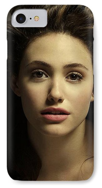 Emmy Rossum IPhone Case by Movie Poster Prints