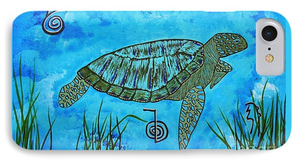 Emotional Healing With The Sea Turtle IPhone Case