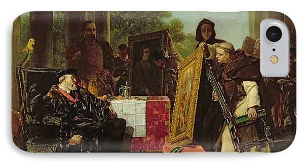 Emperor Charles V At The Convent IPhone Case by Alfred W. Elmore