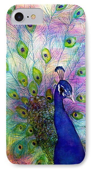Emperor Peacock IPhone Case by Janet Immordino