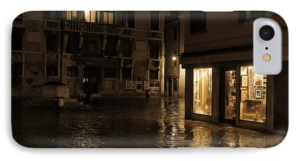 Winter's Night In Venice IPhone Case by Marion Galt