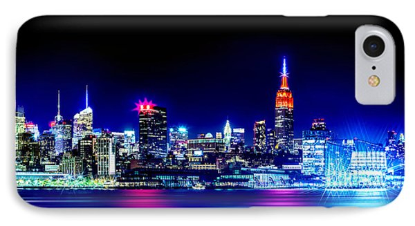 Empire State At Night IPhone Case by Az Jackson