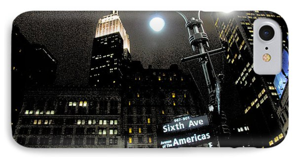 Empire State Building At Night IPhone Case by Ivo Kerssemakers
