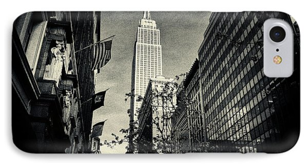 Empire State Building And Macys In New York City Phone Case by Sabine Jacobs
