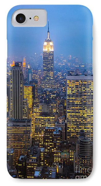 Empire State Building And Midtown Manhattan IPhone Case by Liz Leyden