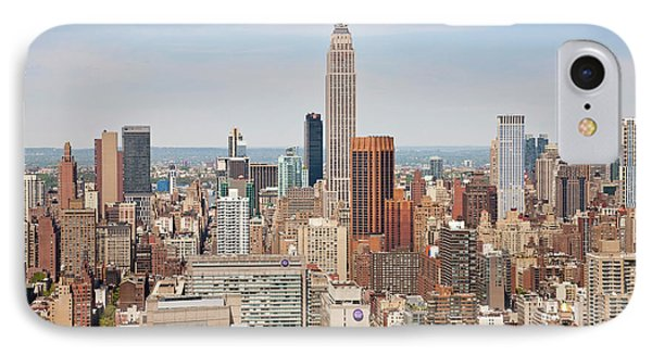 Empire State Building And Skyline IPhone Case by Peter Adams