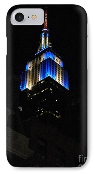 Empire State Building At Night IPhone Case by Emmy Marie Vickers