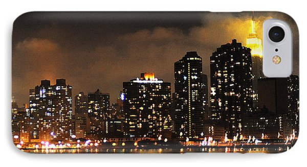 Empire State Building From Long Island City IPhone Case by Steve Archbold