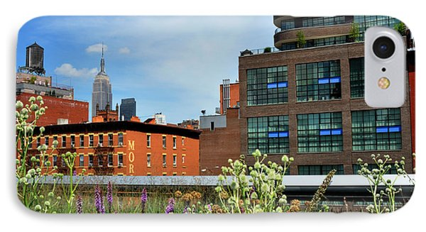 Empire State Building From The High Line IPhone Case by Diane Lent