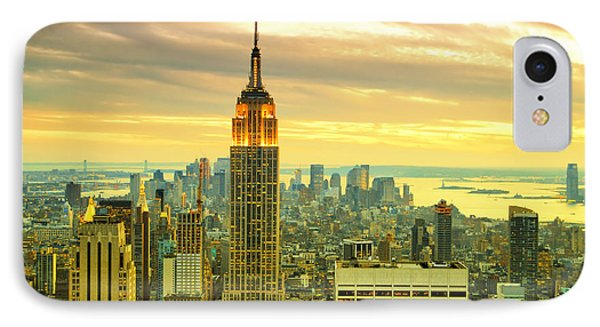 Empire State Building In The Evening IPhone Case by Sabine Jacobs