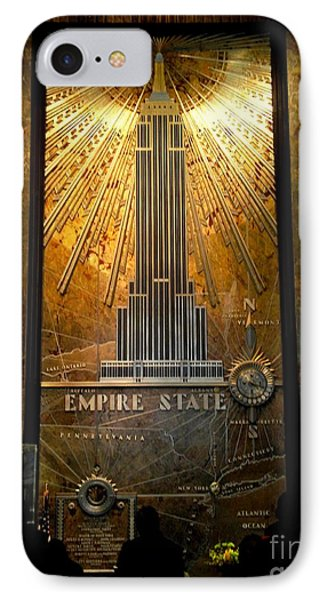 Empire State Building - Magnificent Lobby Phone Case by Miriam Danar
