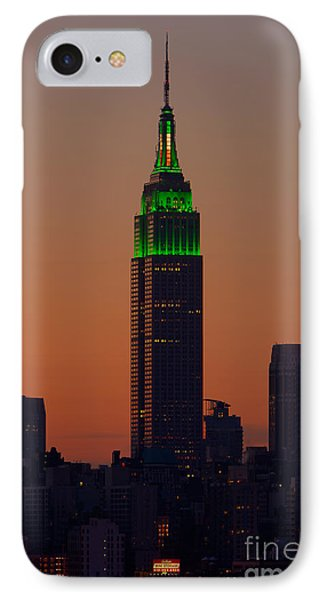 Empire State Building Saint Patricks Day Lighting I IPhone Case