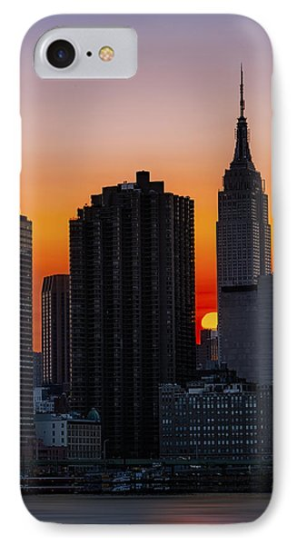 Empire State Building Sunset Phone Case by Susan Candelario