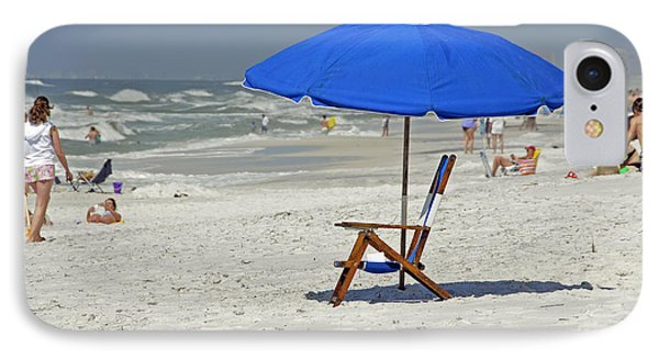 IPhone Case featuring the photograph Empty Beach Chair by Charles Beeler