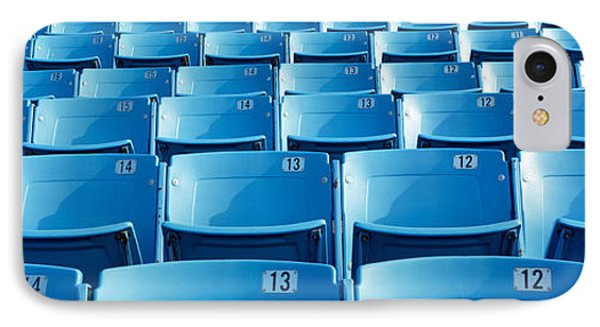 Empty Blue Seats In A Stadium, Soldier IPhone Case