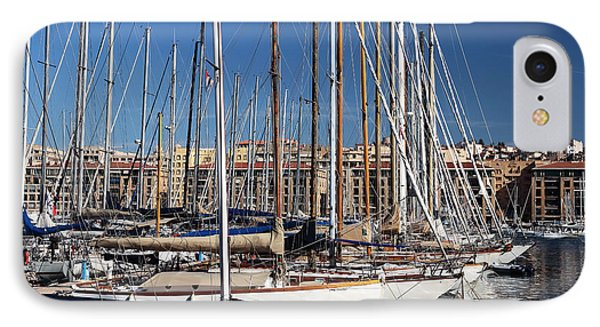 Empty Masts In Vieux Port Phone Case by John Rizzuto