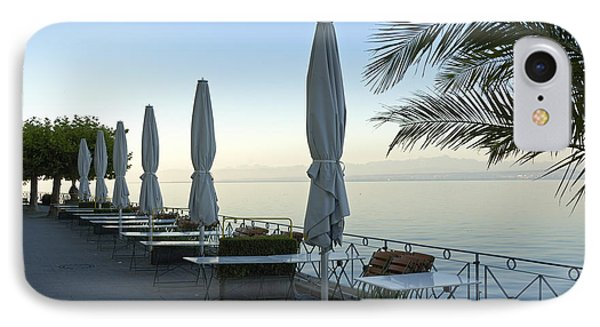 Empty Promenade In The Morning Meersburg Lake Constance Phone Case by Matthias Hauser