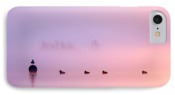 Empty Spaces 2 - Sunrise In The Mist IPhone Case by Roeselien Raimond