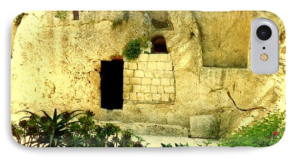 Empty Tomb Of Jesus IPhone Case by Lou Ann Bagnall
