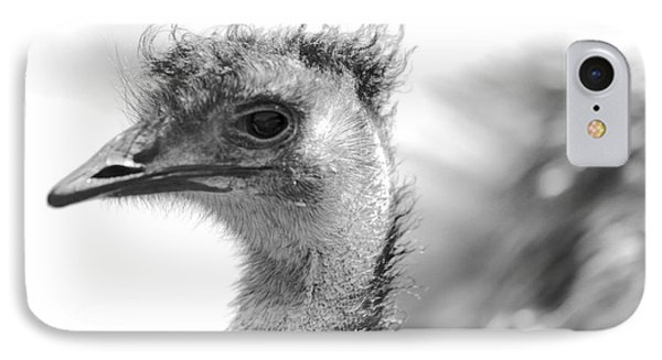 Emu - Black And White IPhone Case by Carol Groenen