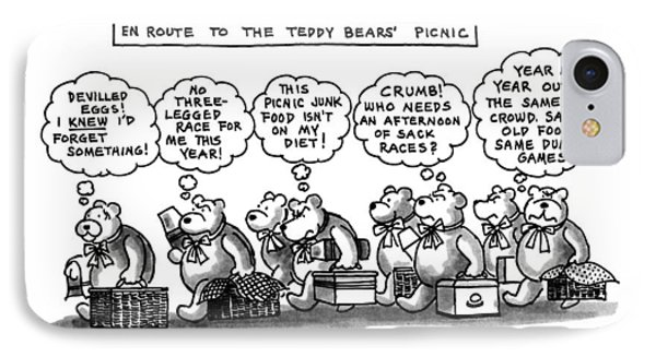 En Route To The Teddy Bears' Picnic IPhone Case by Henry Martin