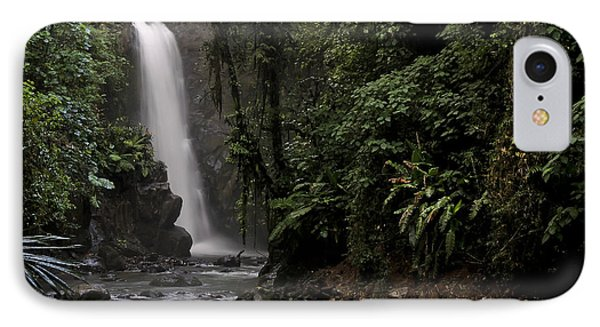 IPhone Case featuring the photograph Encantada Waterfall Costa Rica by Teresa Zieba