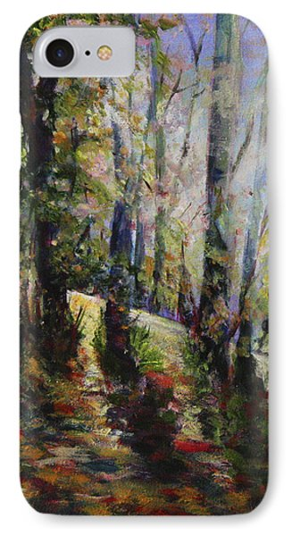 IPhone Case featuring the painting Enchanted Forest by Sher Nasser