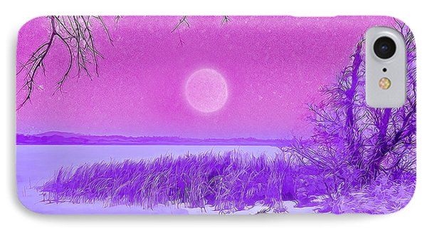 Rosy Hued Moonlit Lake - Boulder County Colorado IPhone Case by Joel Bruce Wallach