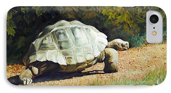 IPhone Case featuring the painting Enchanted Turtle's Terrific Journey by Svitozar Nenyuk