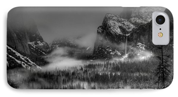 Enchanted Valley In Black And White Phone Case by Bill Gallagher