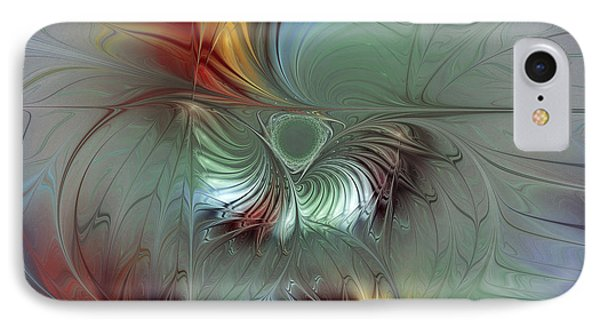 Enchanting Flower Bloom-abstract Fractal Art IPhone Case by Karin Kuhlmann