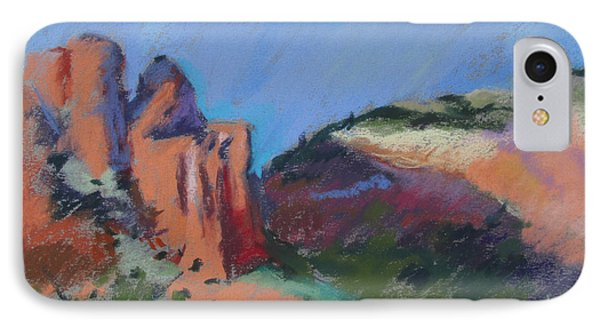 Encroaching Shadows IPhone Case by Linda Novick