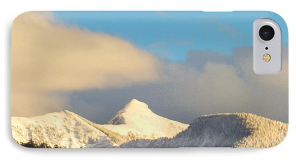 IPhone Case featuring the photograph End Of February Snow On Sheep's Head Peak by Anastasia Savage Ealy