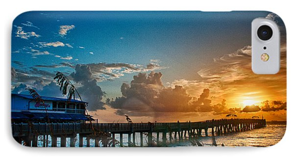 End Of The Pier IPhone Case by Don Durfee