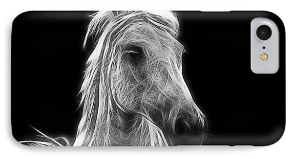 Energetic White Horse IPhone Case