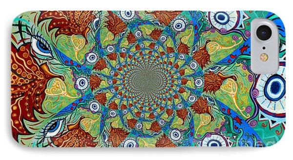 Energy Sprite Kaleidosope IPhone Case by Genevieve Esson