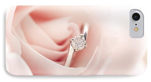 Engagement Ring In Pink Rose Phone Case by Jelena Jovanovic