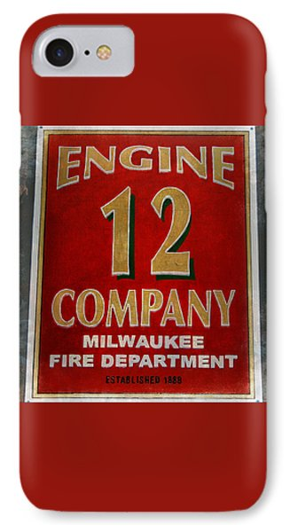 Engine 12 IPhone Case by Susan  McMenamin