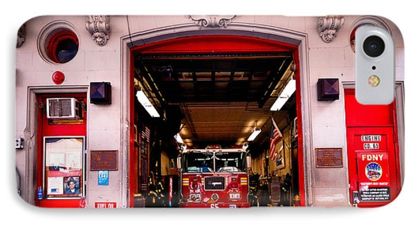 Engine Company 65 Firehouse Midtown Manhattan Phone Case by Amy Cicconi