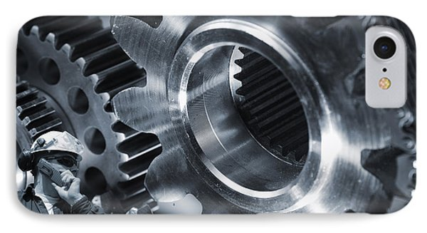 Engineering And Giant Machinery IPhone Case by Christian Lagereek