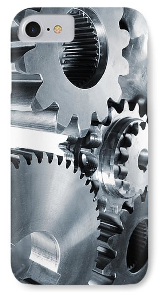 Engineering And Technology Gears IPhone Case by Christian Lagereek